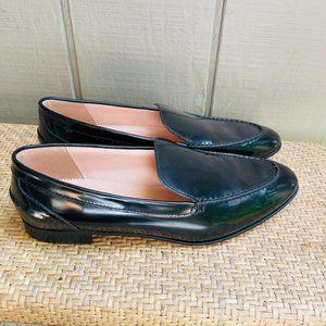 J Crew Slip On Black Patent Leather Loafers